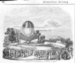 Lehmanns Luftschifffahrt im Prater, 1846