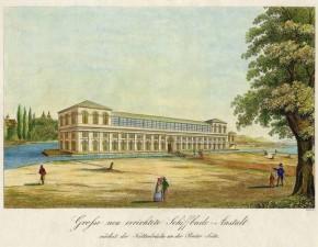 Badeschiff bei der Sophienbrücke/Rotundenbrücke, 1827