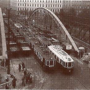 Belastungsprobe der neu errichteten Rotundenbrücke, 1935 (Architekt: Clemens Holzmeister)