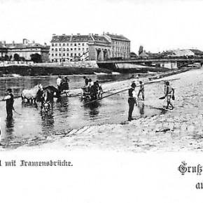 Donaukanal mit Franzensbrücke, um 1900