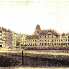 Böcklinstraße, Ecke Halmgasse, um 1900