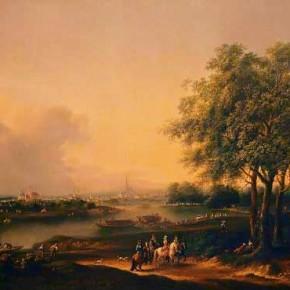 Joseph Heideloff: Eine Aussicht im Prater gegen die Vorstadt Landstraße, um 1780