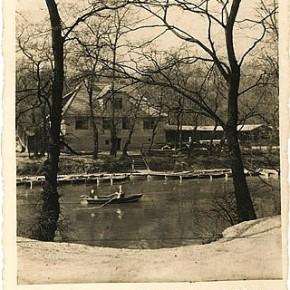 Ruderer am Heustadlwasser, um 1930