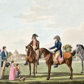 Wilhelm Kobell (1766-1855): Unterhaltung zu Pferde im Prater bey dem Panorama