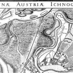 Leander Anguissola, Johann Jacob Marinoni: Ausschnitt Grundrissplan von Wien mit seinen Vorstädten und dem Linienwall (1704-1706)