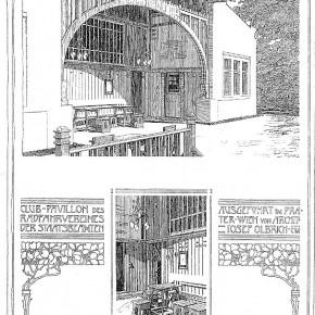 Rustenschacherallee 7: Radfahrverein der Hof- und Staatsbeamten, 1898 (Architekt: Joseph Maria Olbrich)