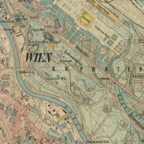 Gradkartenblatt Zone 13 Colonne XV Section 1a (Ausschnitt), 1875