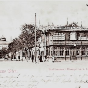 Prater: Restaurant Eisvogel, um 1900