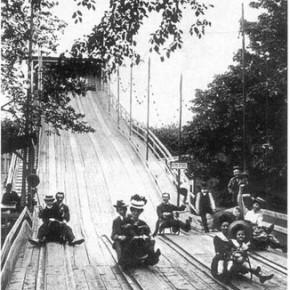 Sommerrodelbahn im Wurstelprater, ca. 1908