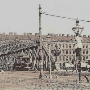 Sophienbrücke/Rotundenbrücke mit Blick auf die Schüttelstraße, 1902