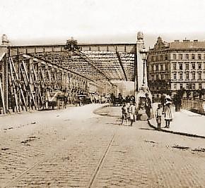 Sophienbrücke/Rotundenbrücke mit Blick auf die Rasumofskygasse, um 1900