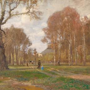 Tina Blau: Birken bei der Rotunde, Wien Prater 1914