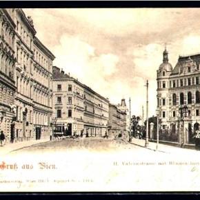 Böcklinstraße (ehem. Valeriestraße) mit Blindeninstitut, 1904