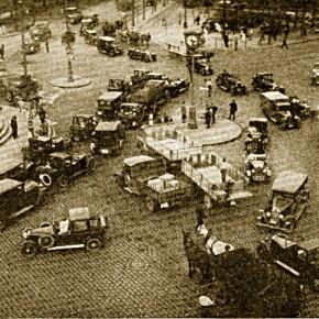 Verkehrsstau am Praterstern (Datum unbekannt)