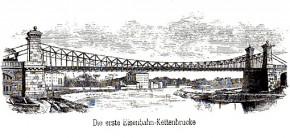 Die weltweit erste Eisenbahn-Kettenbrücke (1859-1884)