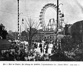 Der Prater am 1. Mai 1901