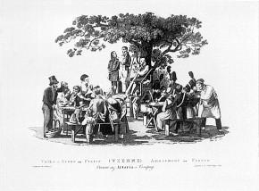 Johann Nepomuk Passini: Volksszene im Prater, 1820