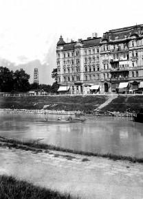 Donaukanal mit Schüttelstraße/Ecke Laufbergergasse (Datum unbekannt)