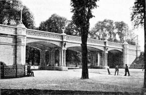 Viadukt der Staatseisenbahn in der Hauptallee nahe dem Lusthaus, 1905