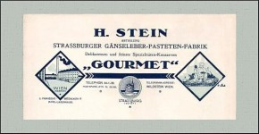 Briefkopf Firma Hugo Stein, Franzensbrückenstraße 17 (1925)