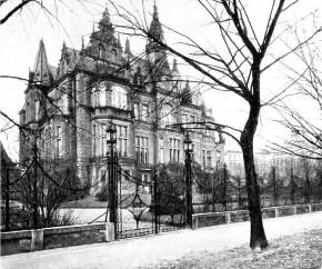 Villa Liechtenstein, Böcklinstraße 39 - Ansicht Rustenschacherallee (ca. 1905)