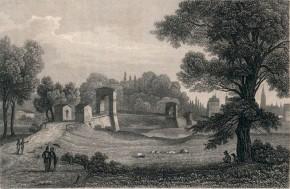 Louis Hoffmeister, Jakob Meinrad Bayrer: Die Sophien- oder Praterbrücke in Wien, 1842