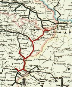 Die Kaiser Ferdinands-Nordbahn im Jahr 1849