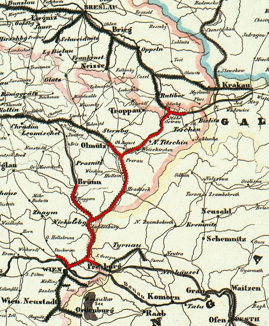 Kaiser Ferdinands-Nordbahn, 1849