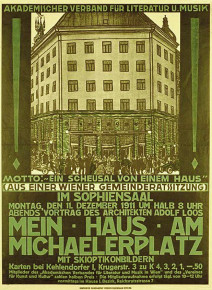 Exkurs: Adolf Loos spricht in den Sofiensälen, Marxergasse 17 (Dezember 1911)