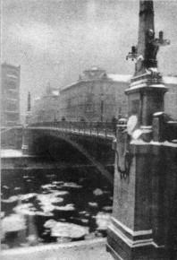 Emil Mayer: Eistreiben am Donaukanal bei der Franzensbrücke, ca. 1917/18