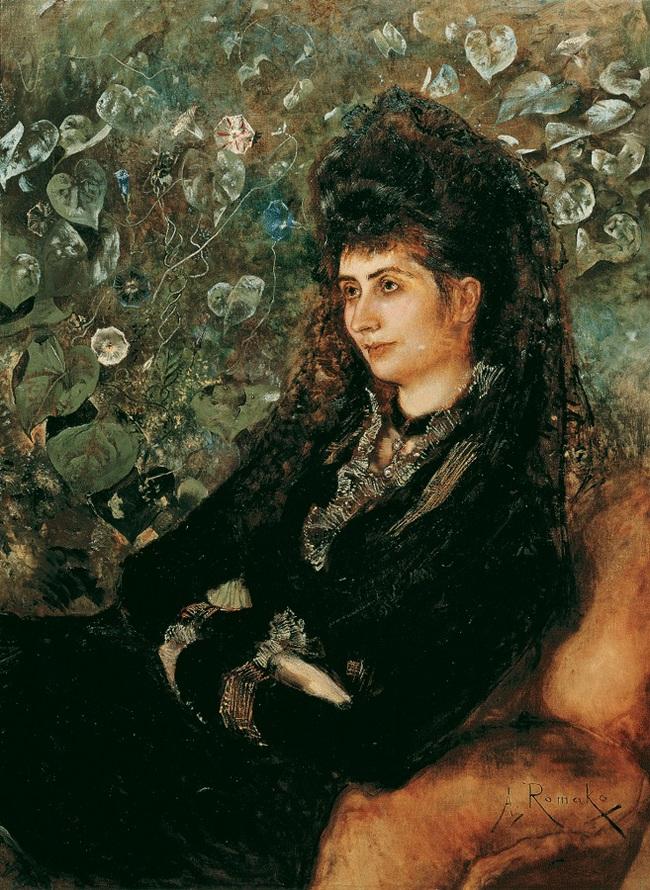 Porträt Mathilde Stern von Anton Romako