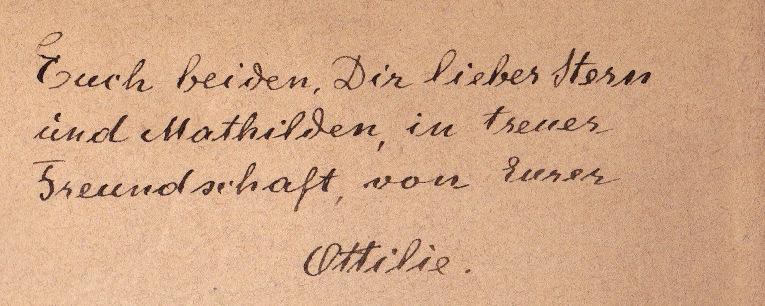 Ottilie Hirschl-Widmung