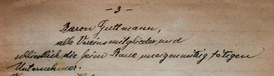 Gründer der Erlöserkirche am Schüttel, Pfarrchronik, Baron Gutmann