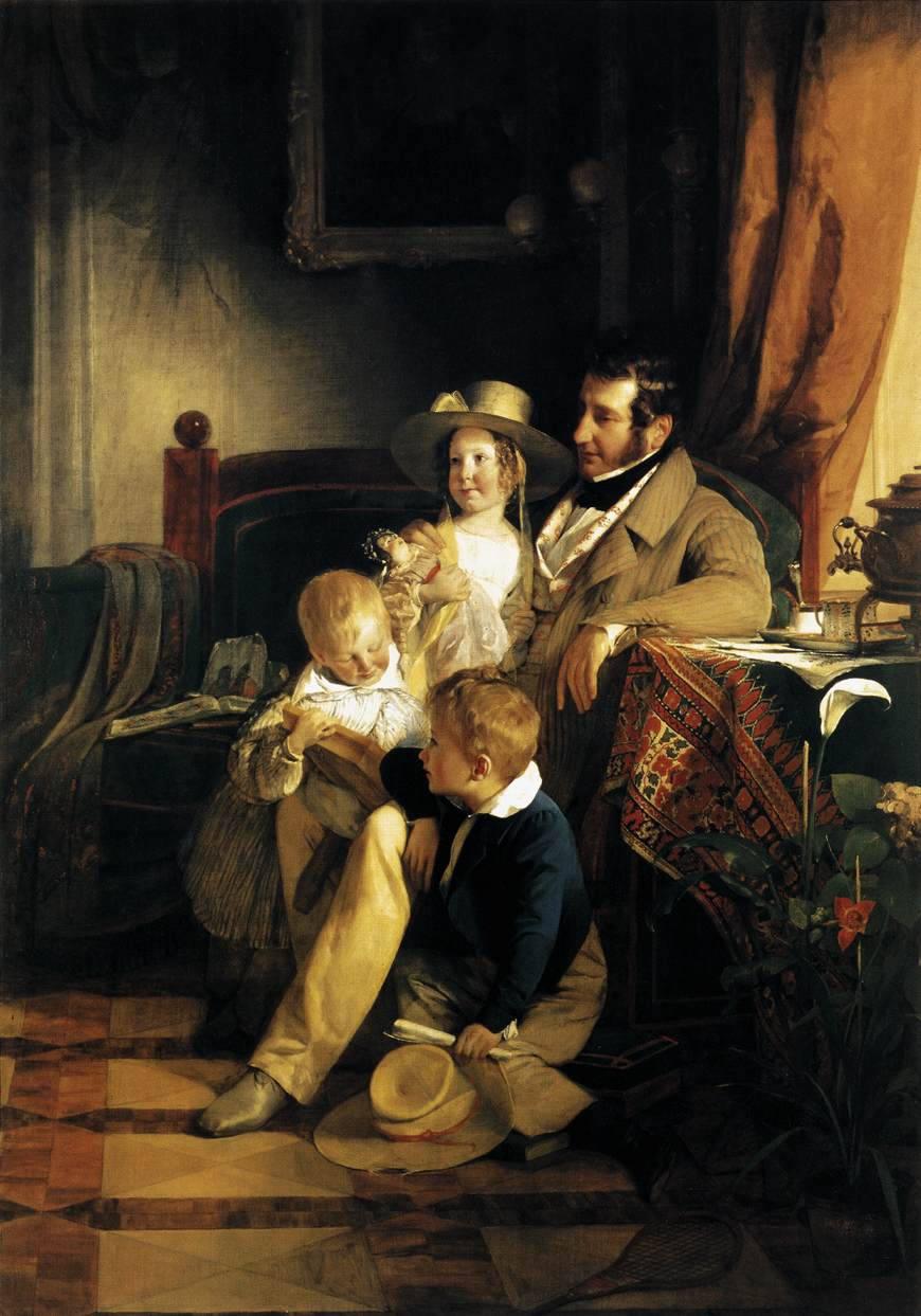 Friedrich von Amerling: Rudolf von Arthaber und seine Kinder