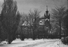 Die Villa Harnoncourt in einer Winternacht, Laufbergergasse 12 (1891)