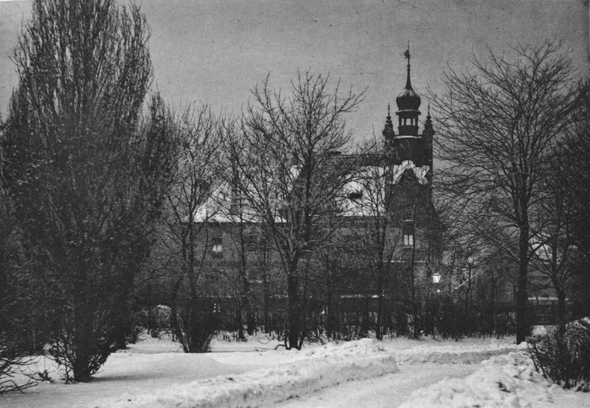 Villa Harnoncourt in einer Winternacht, 1891