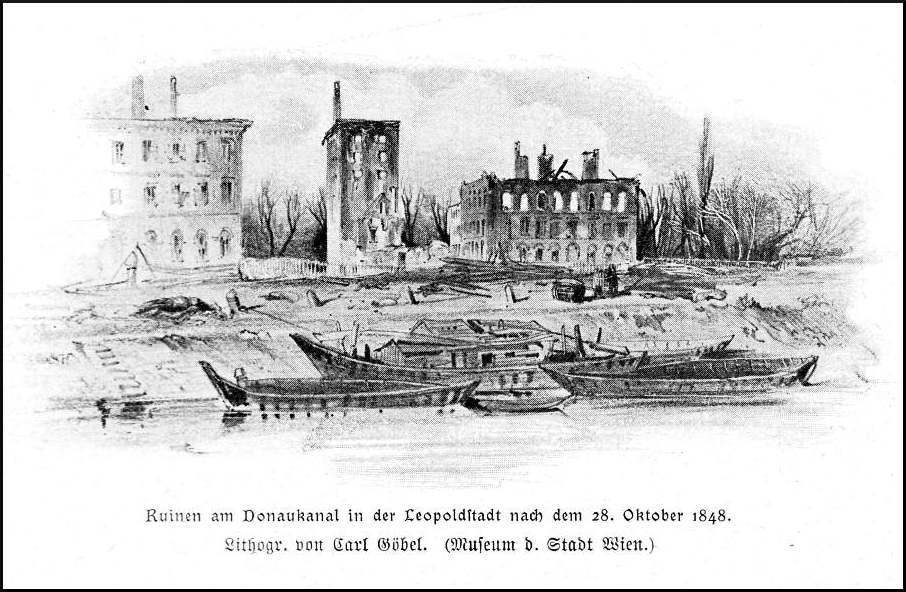 Zuckerraffinerie Mack am Schüttel, Oktober 1848