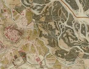 Josephinische Landesaufnahme: Wien und der Prater (Detail), 1773–1781