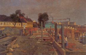 Bauarbeiterinnen auf der Weißgerberlände, ca. 1905/06