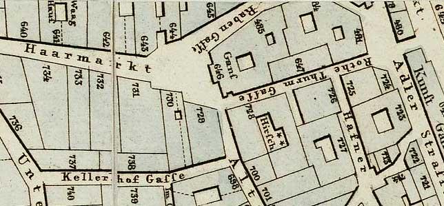 Der Haarmarkt mit seiner Umgebung, um 1824