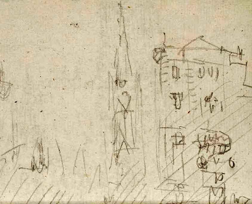 Turner: Stephansdom und Lazanskyhaus, 1833