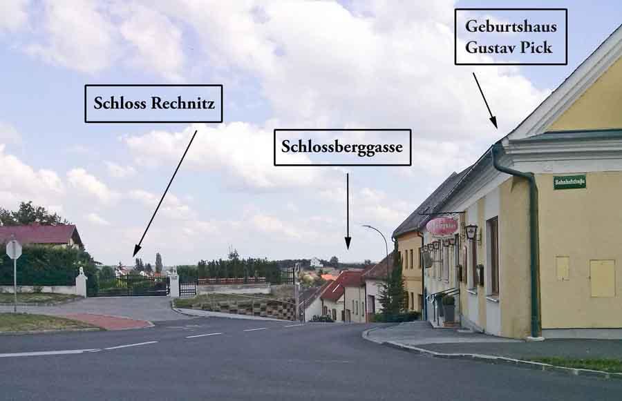 Schloss Rechnitz und Geburtshaus von Gustav Pick, 2015